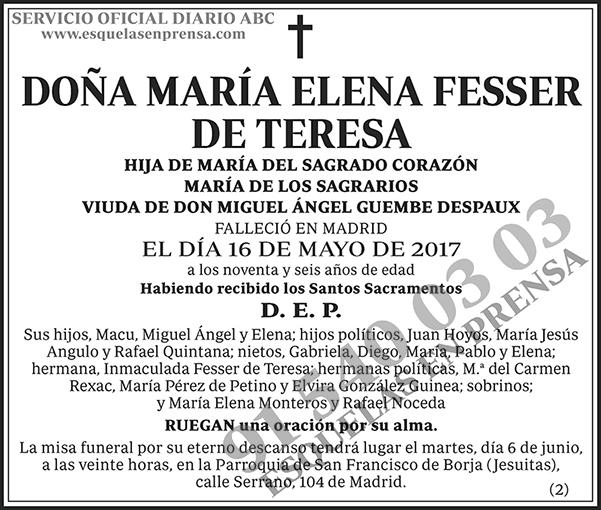 María Elena Fesser de Teresa